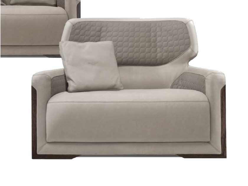 Upholstered leather armchair with armrests V128 | Armchair by Aston Martin