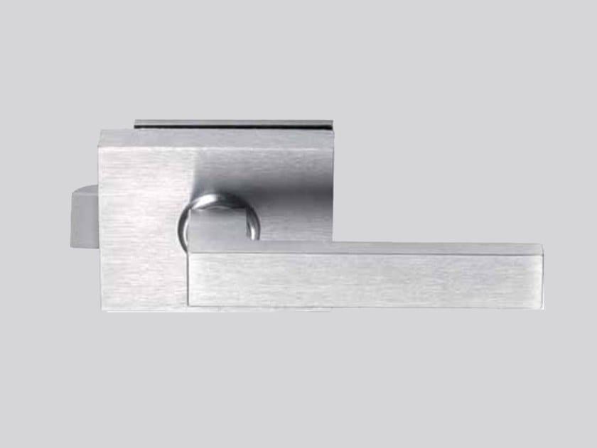 Glass door lock V-540 MINIMA FLAT by Metalglas Bonomi