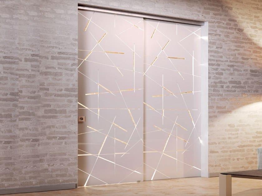 Sliding door track FIFTY SOFT CLOSE by Metalglas Bonomi