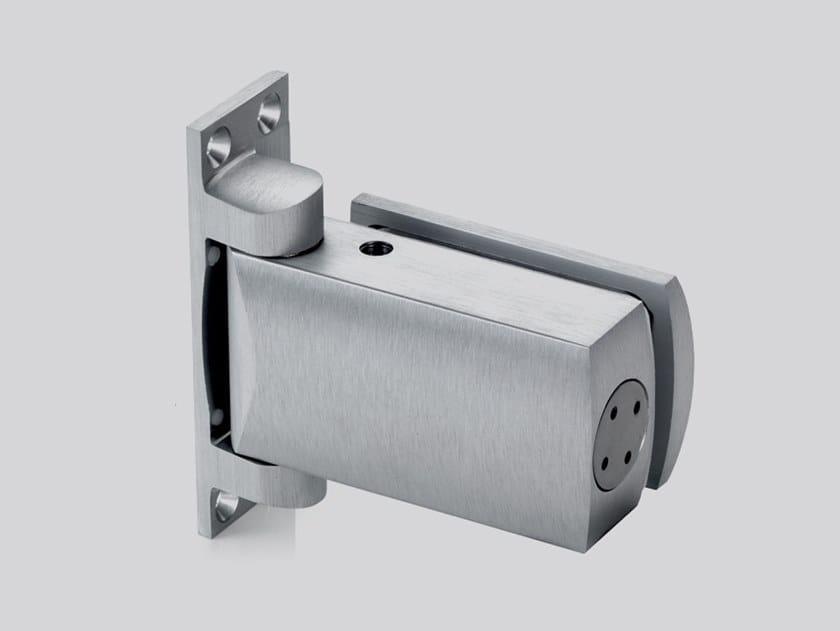 Hydraulic glass door hinge V-807 by Metalglas Bonomi