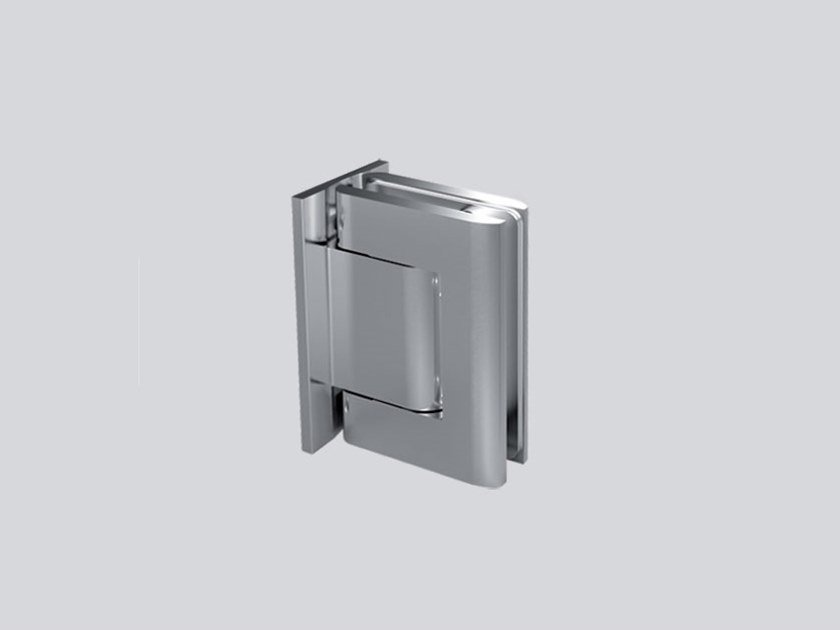 Hydraulic stainless steel glass door hinge V-808-R by Metalglas Bonomi