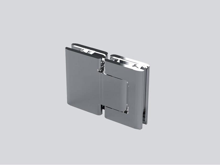 Hydraulic stainless steel glass door hinge V-816-R by Metalglas Bonomi