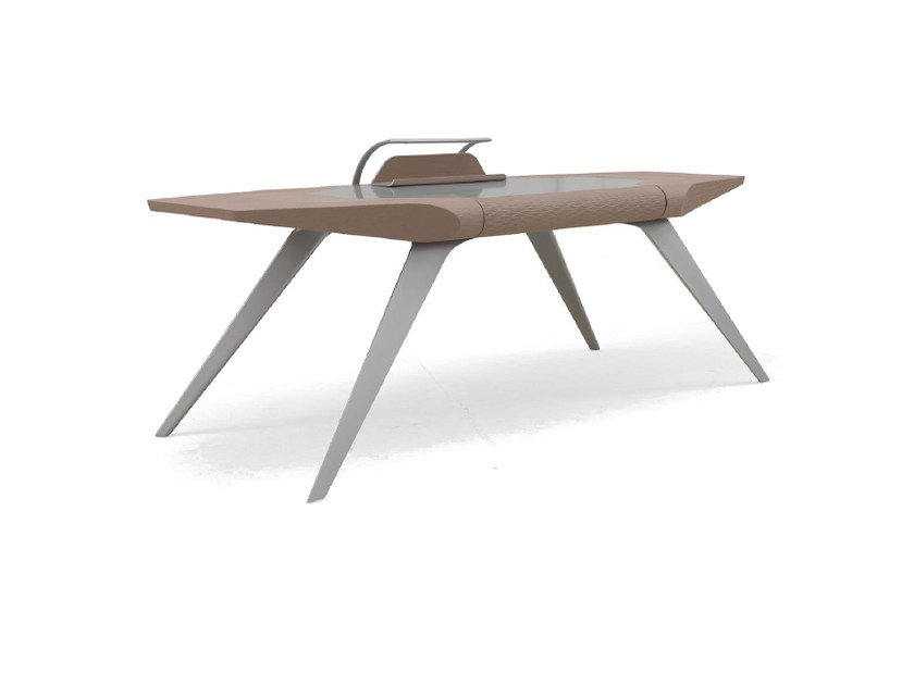 Contemporary style aluminium writing desk for hotel rooms V031 | Writing desk by Aston Martin