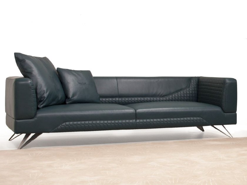 Upholstered 3 Seater Leather Sofa V098 By Aston Martin