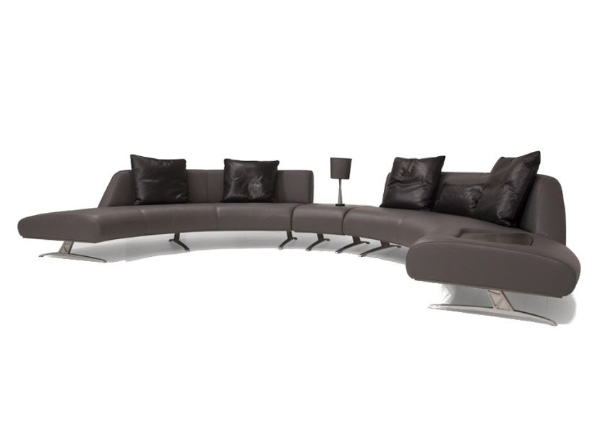 Corner sectional upholstered leather sofa V114 COMPOSITION 2 | Sectional sofa by Aston Martin