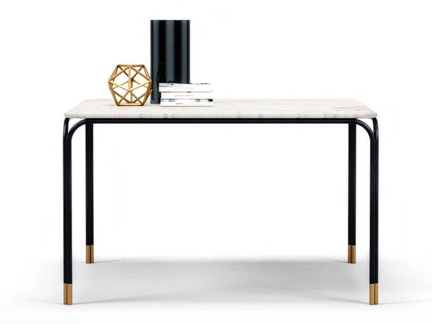 Tavolo da pranzo quadrato in marmo di Carrara V240 | Tavolo quadrato by Aston Martin