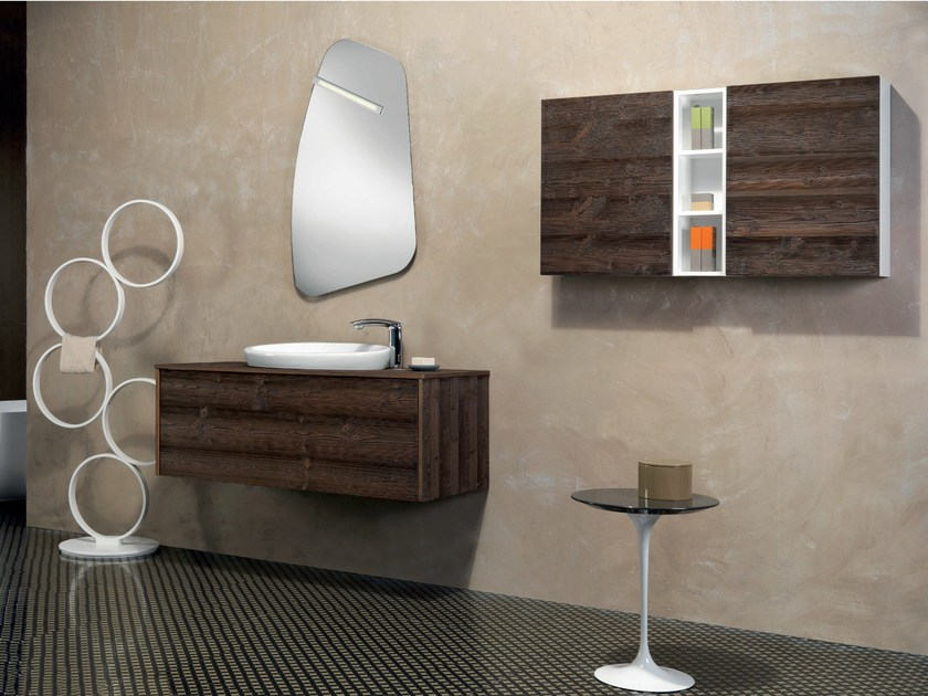 Wall-mounted vanity unit with drawers V52 by Mobiltesino