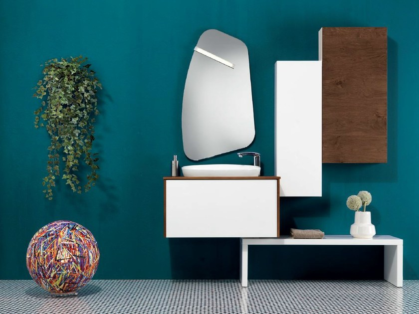 Vanity unit with cabinets V55 by Mobiltesino
