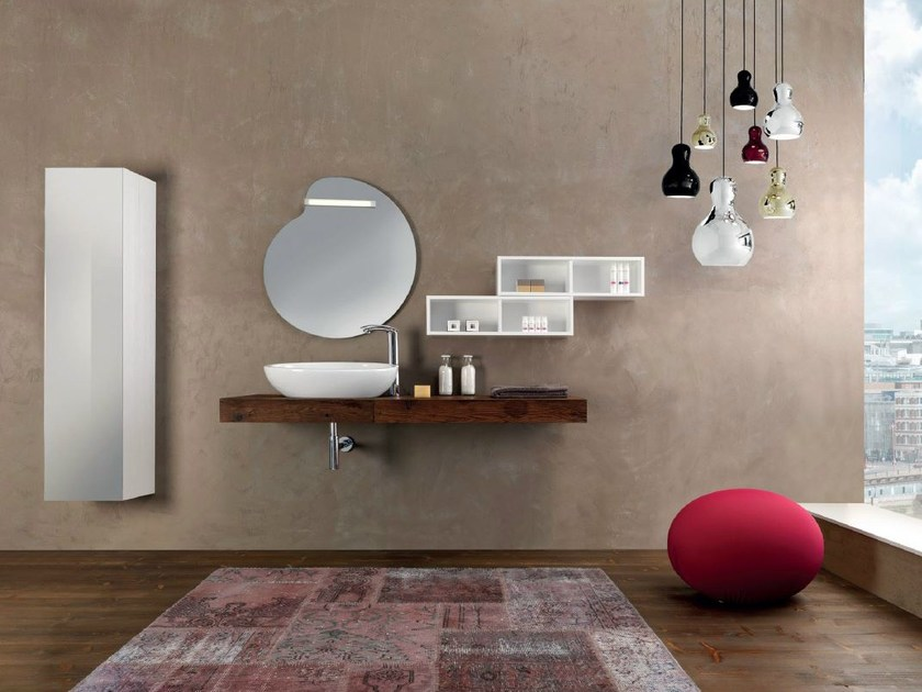 Vanity unit with cabinets V66 by Mobiltesino