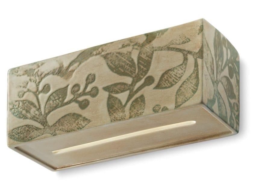 Rectangular ceramic wall light VAGUE | Ceramic wall light by FERROLUCE