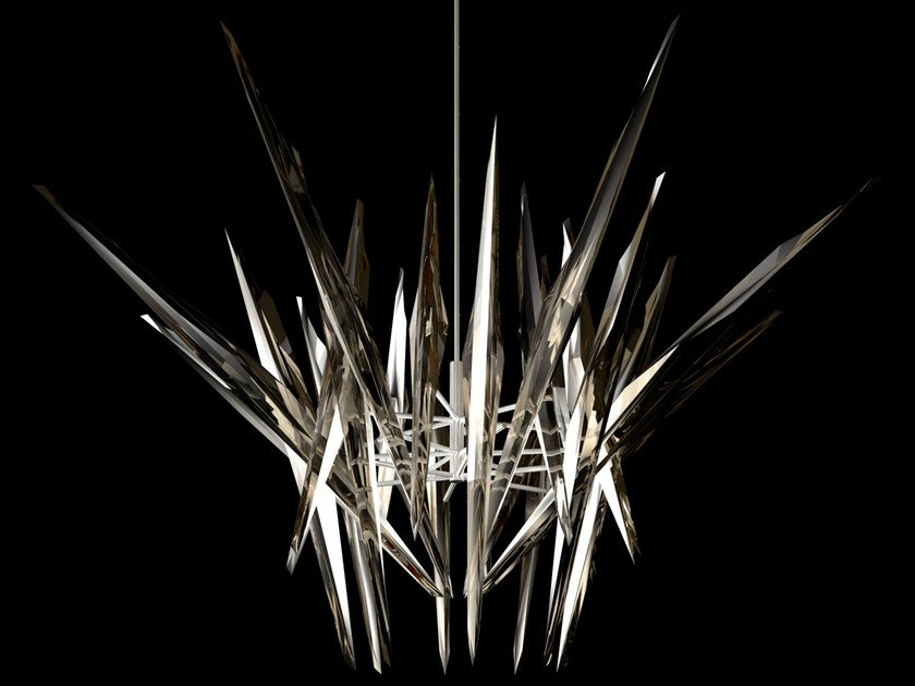 Crystalia© LED chandelier VAJRA by CEDRIMARTINI