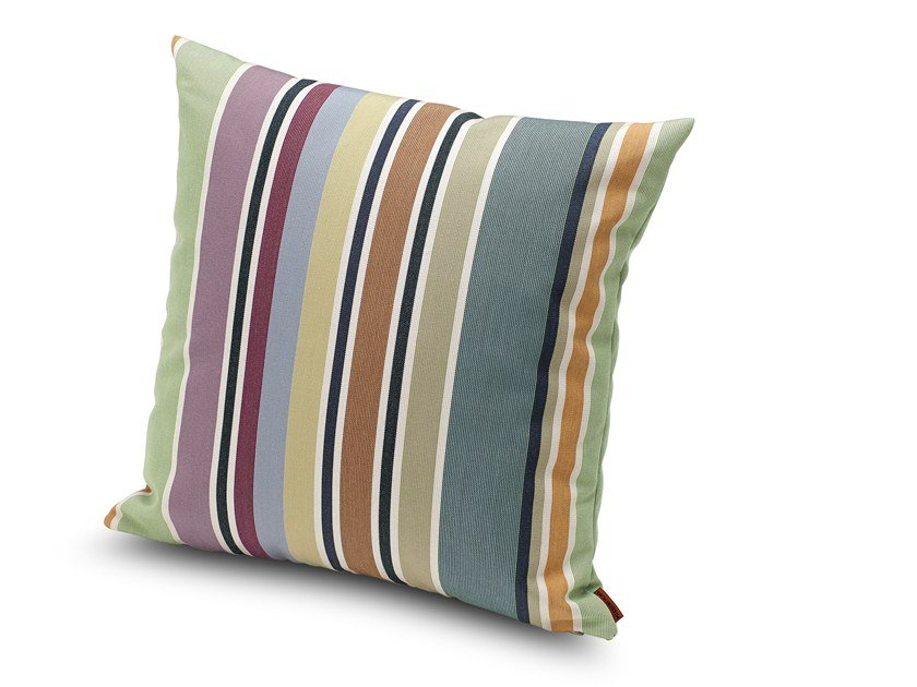 Striped outdoor cushion VALDEMORO | Square cushion by MissoniHome