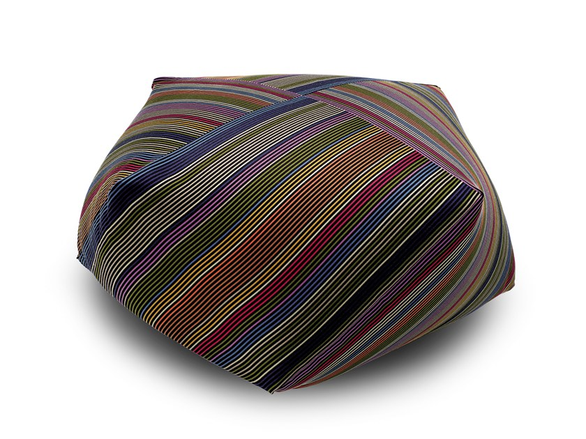 Trevira® CS pouf with removable lining with fire retardant padding VALDEZ | Pouf by MissoniHome