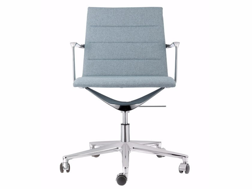 Swivel fabric task chair with 5-Spoke base with casters VALEA ELLE | Fabric task chair by ICF