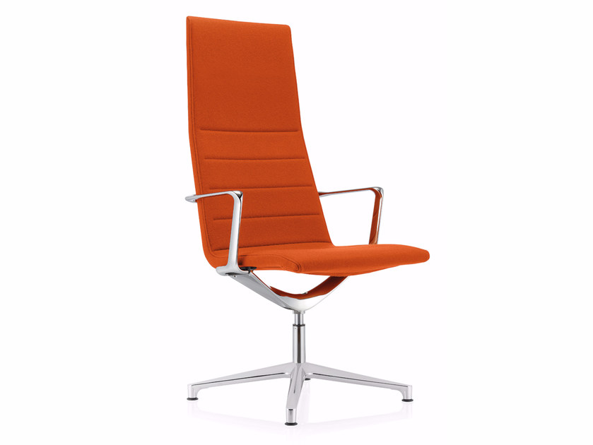 Swivel high-back executive chair with 4-spoke base VALEA ELLE | Executive chair by ICF