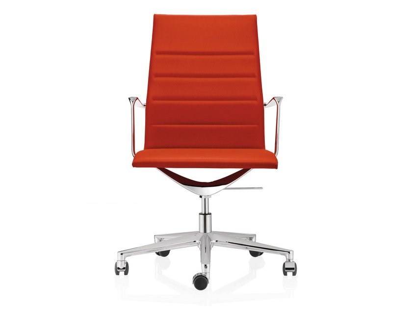 Fabric task chair with 5-Spoke base with casters VALEA ESSE | Fabric task chair by ICF