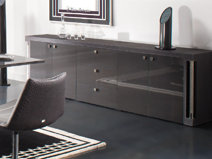 Carbon fibre sideboard with drawers VALENCIA | Sideboard by Tonino Lamborghini Casa