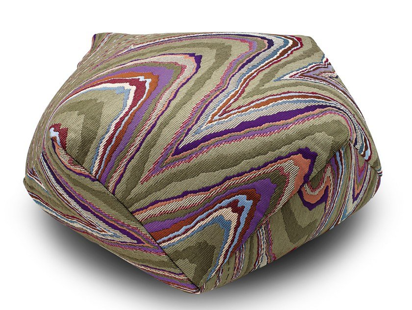 Fabric pouf with removable lining VALLAURIS | Pouf by MissoniHome