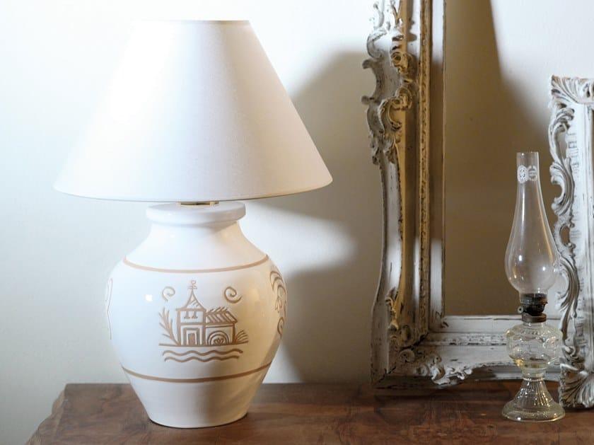 Lampada da tavolo a luce diretta e indiretta in ceramica VALLAURIS | Lampada da tavolo by Cerasarda