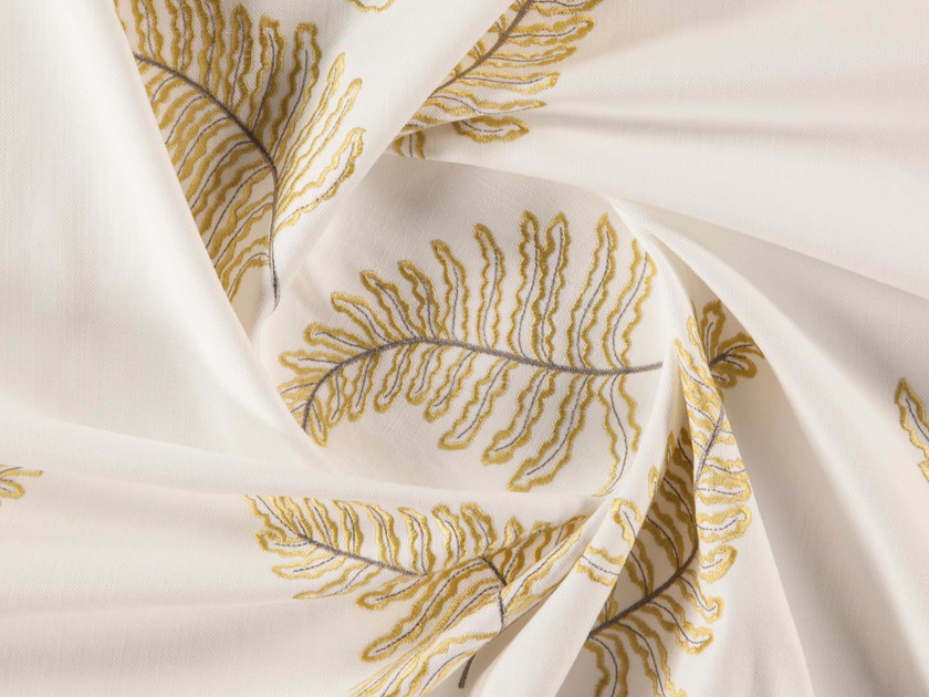 Washable embroidered polyester fabric for curtains VALLETTA by More Fabrics