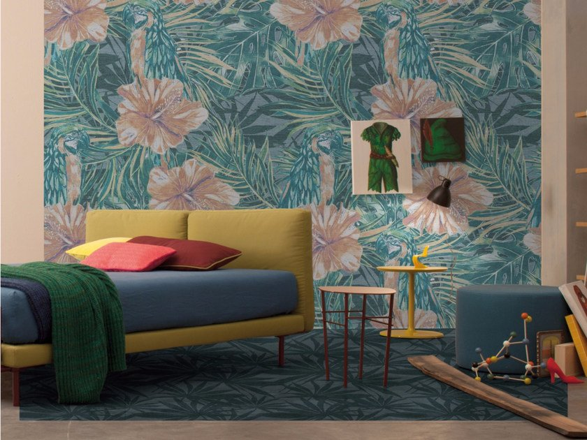Panoramic wallpaper with floral pattern VAN-GI by Inkiostro Bianco
