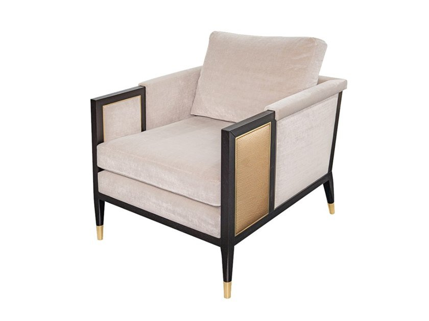 Velvet armchair with armrests VANCOUVER by FRATO