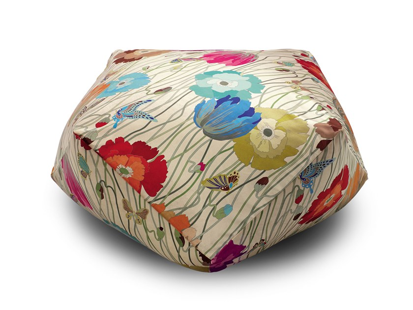 Trevira® CS pouf with removable lining VANCOUVER | Pouf by MissoniHome