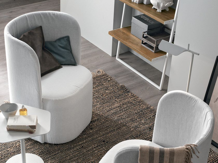 Fabric easy chair VANESSA by Gruppo Tomasella