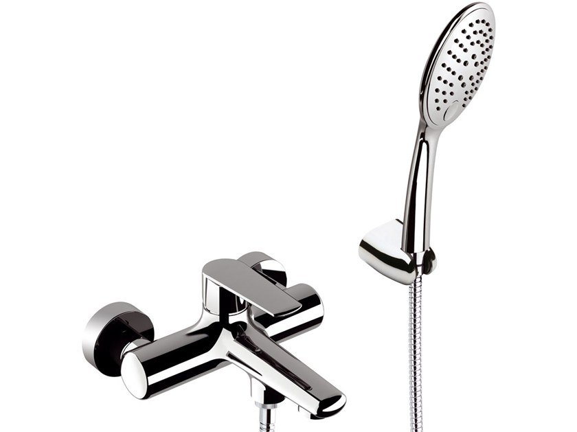 External single handle bathtub mixer VANITY | Bathtub mixer with hand shower by Remer Rubinetterie