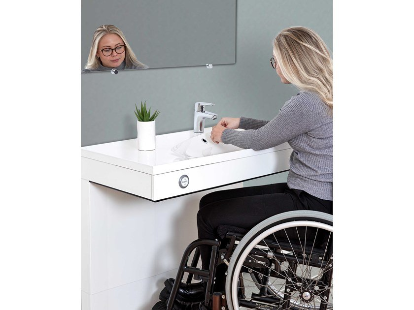 Height-adjustable washbasin for disabled VANITY by Ropox