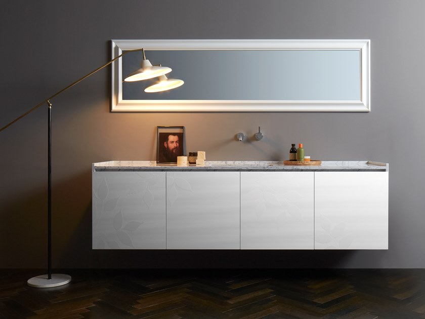 Lacquered wall-mounted vanity unit with drawers DONGIOVANNI | Vanity unit by Capo d'Opera