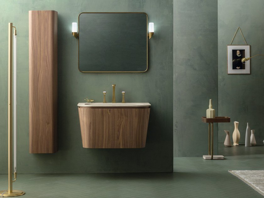 Suede bathroom inspired by art deco style for Cerasa arredo bagno