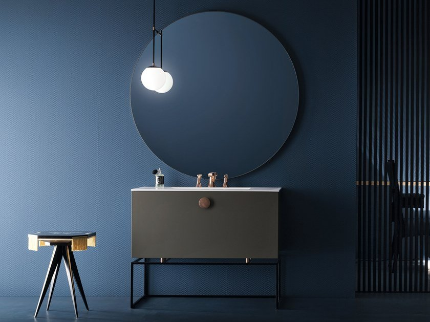 Floor-standing lacquered vanity unit MAORI | Lacquered vanity unit by Cerasa
