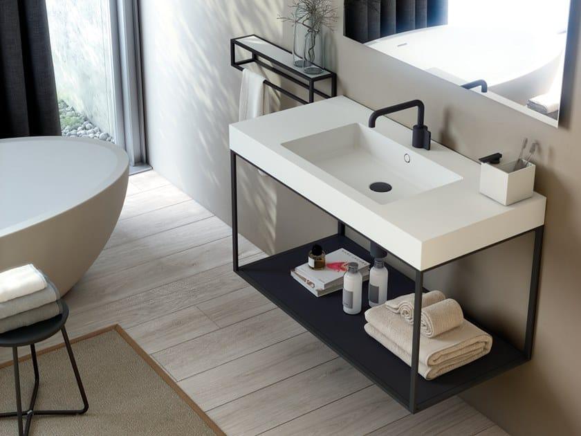 Wall-mounted rectangular vanity unit THE GRID EVO | Vanity unit by Cosmic