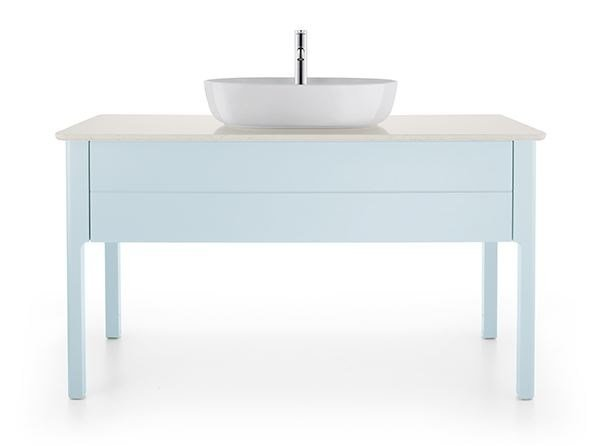 Luv meuble sous vasque collection luv by duravit design for Meuble a tiroir sous bureau