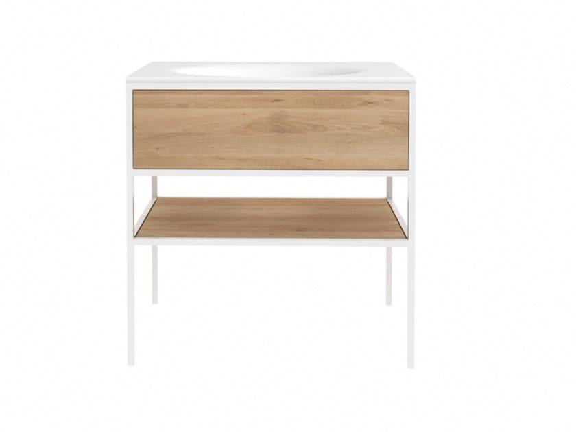 Oak vanity unit with drawers OAK WHITE SENSE | Vanity unit by Ethnicraft