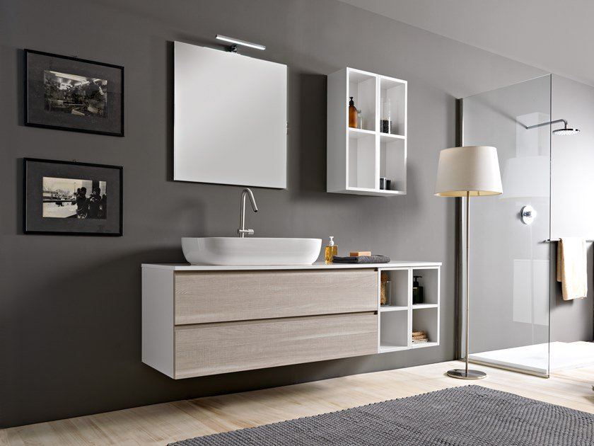 Sectional vanity unit PHORMA | Vanity unit by Scarabeo Ceramiche