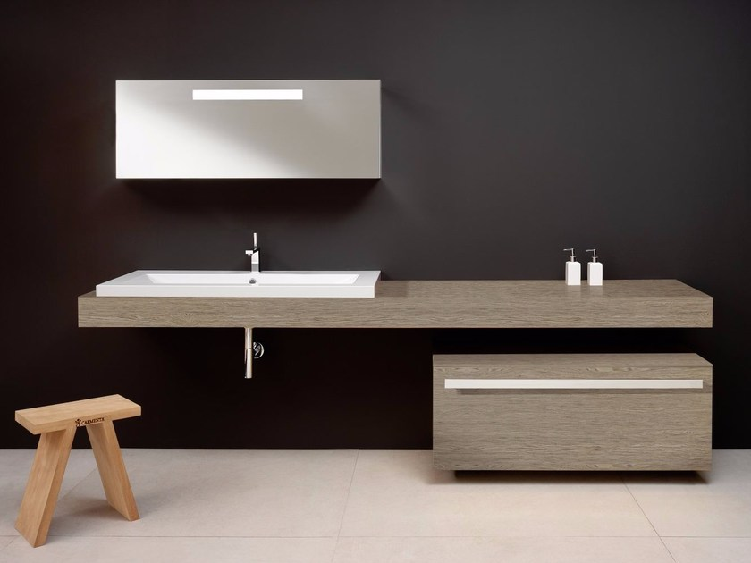 Single wooden vanity unit COUNTER | Vanity unit with drawers by CARMENTA