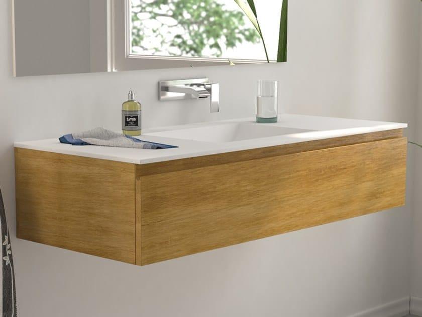 Modulo Wood Wall Mounted Vanity Unit