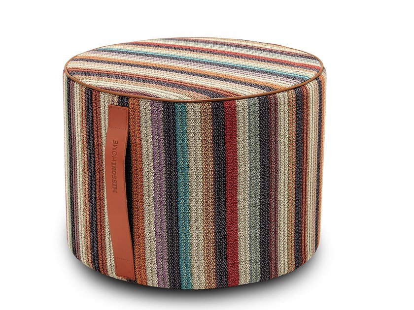 Round pouf with removable lining VANUATU | Pouf by MissoniHome