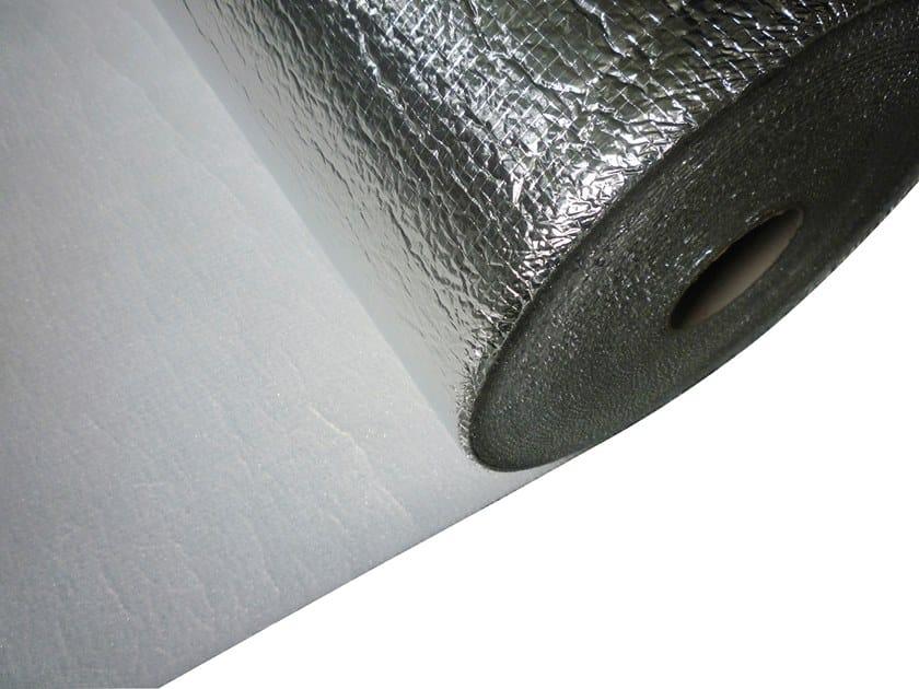 Vapour barrier / Impact insulation system VAPOR STOP -POLIREX 3MM + FILM ALLUMINIO by Biemme