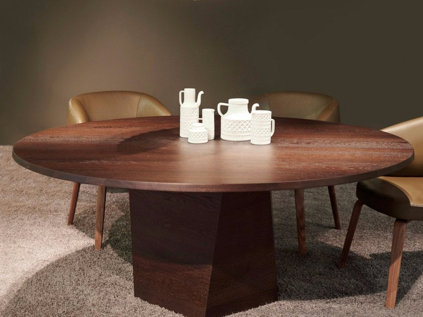 Round wooden dining table VARAN | Round table by more