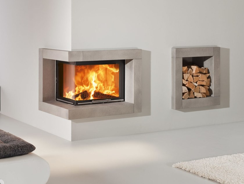 Corner Fireplace Insert Varia 2r Lh H2o