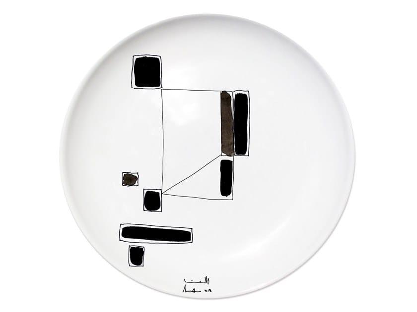 Ceramic dinner plate VARIATION III by Kiasmo