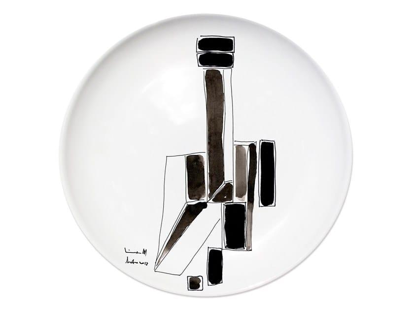 Ceramic dinner plate VARIATION IV by Kiasmo