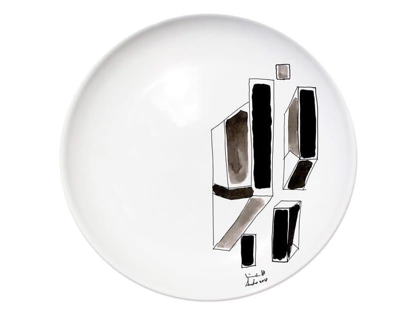 Ceramic dinner plate VARIATION V by Kiasmo