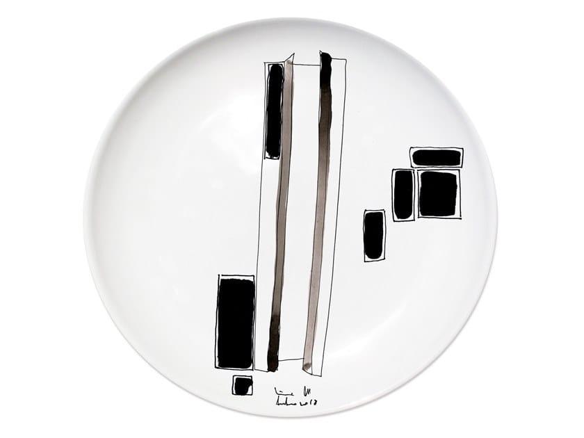 Ceramic dinner plate VARIATION VI by Kiasmo