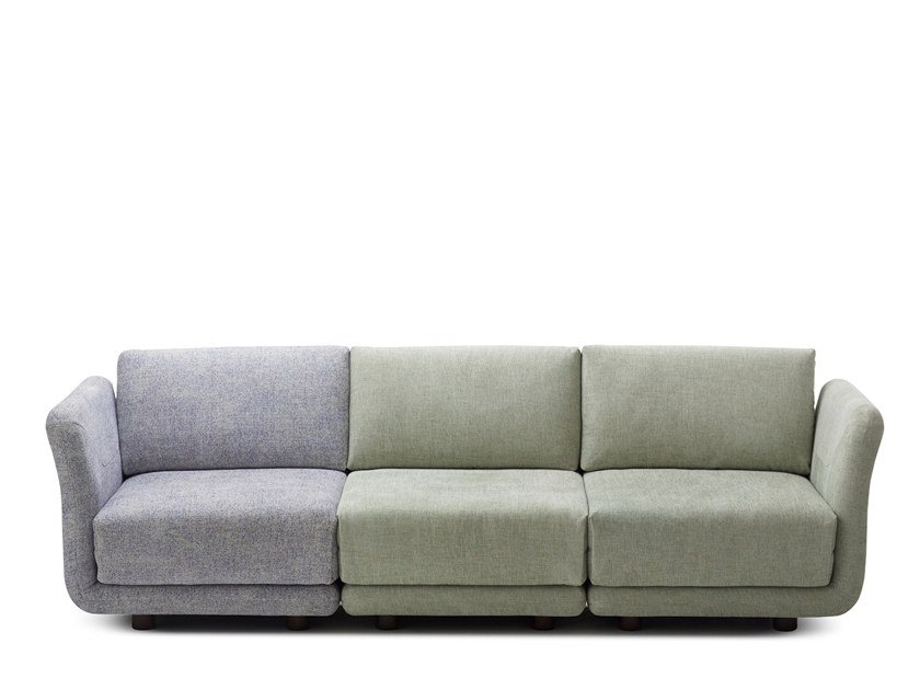 Sectional 3 seater fabric sofa VARIO | 3 seater sofa by Extraform