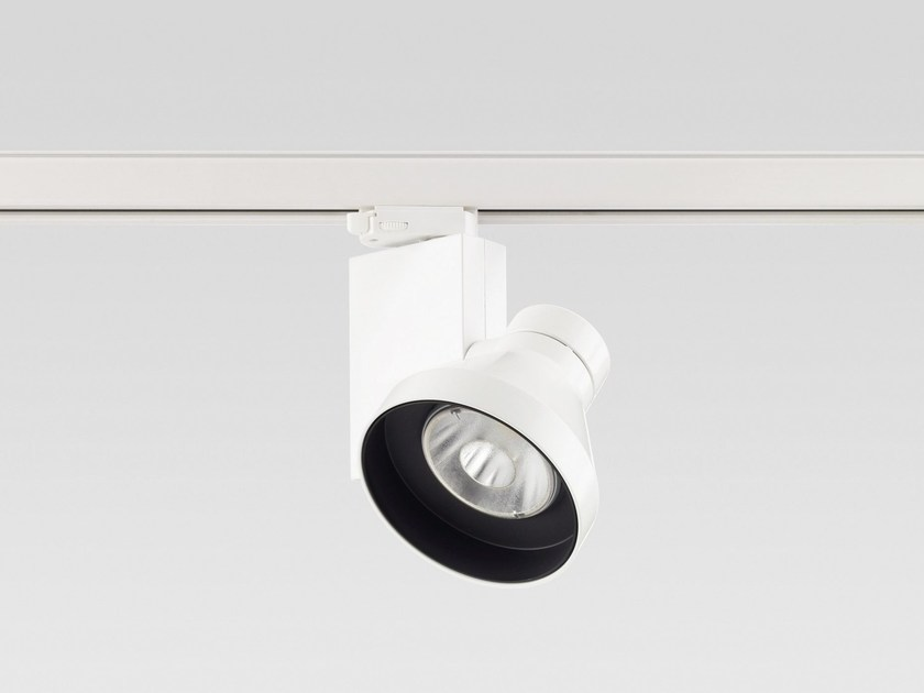 Die cast aluminium Track-Light VARIOS Ø 137 by Reggiani
