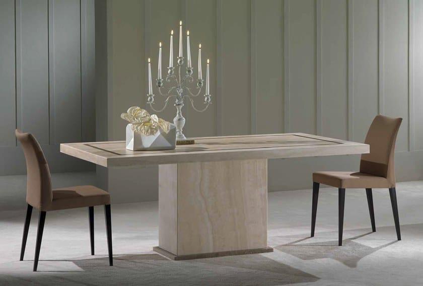 Rectangular travertine table VASARI | Table by International Marmi